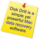 Post-It-Note advertising Disk Drill Mac data recovery software.